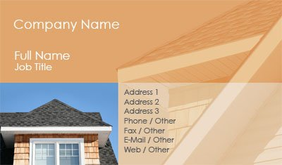 Orange Roofing Business Card Template